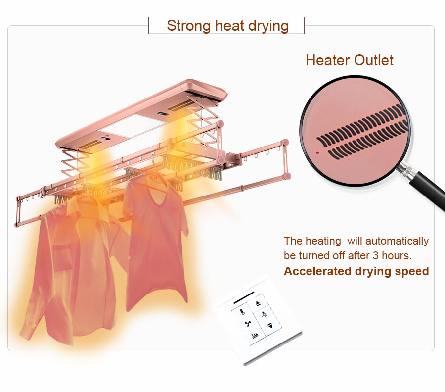 clothes drying rack heat