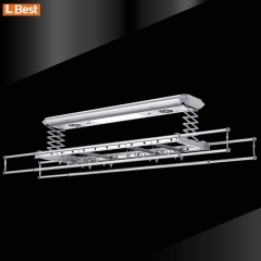 Cepat pengeringan Ceiling Mounted Electric Clothes Drying Rack